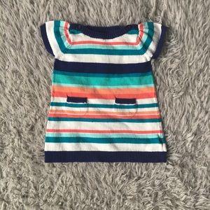 0-3M Short Sleeve Sweater Dress